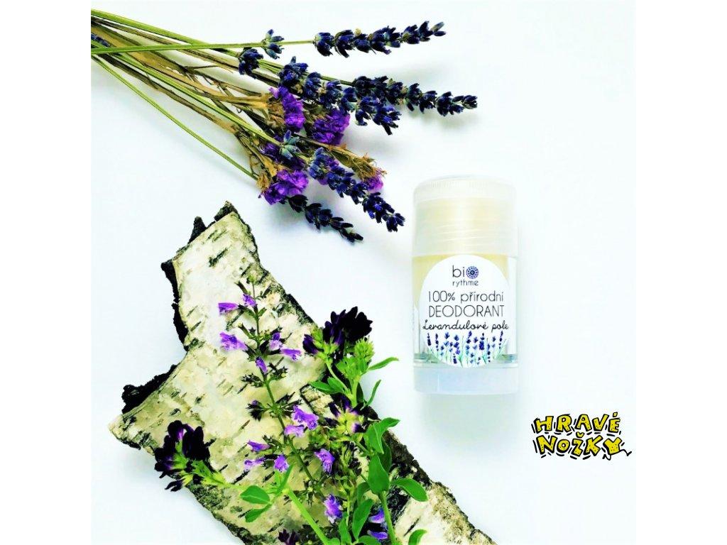 Biorythme - 100% přírodní deodorant Levandulové pole